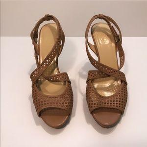 Kate Spade Cream Strap Heels